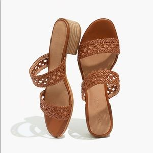 NWT Madewell Marianna brown woven leather sandals